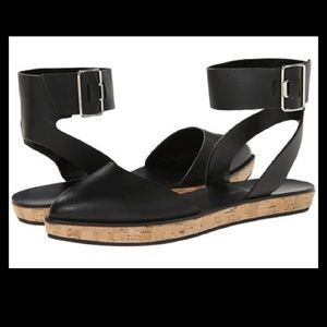 Alice + Olivia leather ankle strap sandals